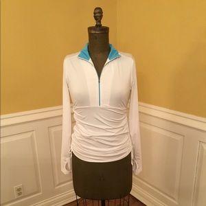 Athleta White Athletic Jacket